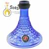 Detalle de la base de la shisha del Amy 072.02 Alu Antique Berry S Blue Black