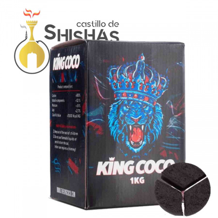 Carbón Natural King Coco Triángulo 1 Kg